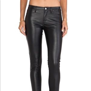 Blank NYC leather skinny pants